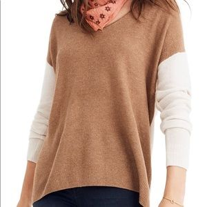 NWT Madewell Kimball Pullover Sweater - Colorblock